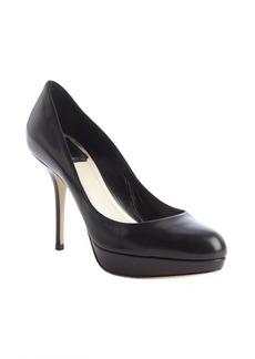 Christian Dior black leather platform pumps