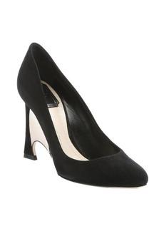 Christian Dior black suede 'Optique' mirrored wedge heel pumps