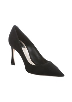 Christian Dior black suede 'Songe' pointed toe pumps