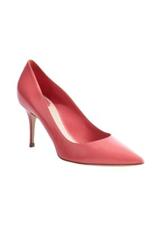 Christian Dior blush leather pointed toe pumps