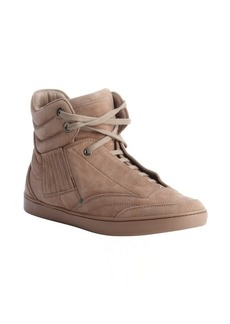 Christian Dior brown suede lace up hi top sneakers