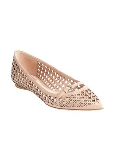 Christian Dior dusty rose textured leather ballet flats