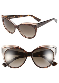 Dior 'Glisten 1' 56mm Cat Eye Sunglasses