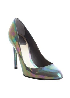 Christian Dior graphite 'Sublime' iridescent leather pumps