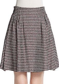 Christian Dior Houndstooth Tweed Skirt