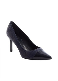 Christian Dior marine leather pointed cap toe pumps