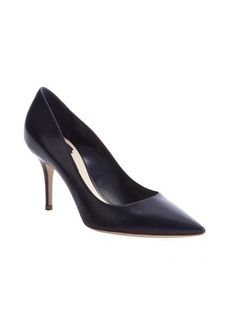 Christian Dior navy leather pointed toe pumps