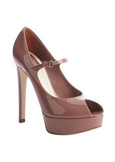 Christian Dior petal patent leather 'Miss Dior' peep toe pumps