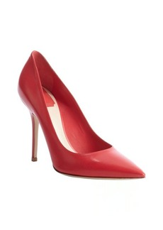 Christian Dior pink leather pointed toe pumps