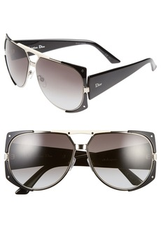 Dior 62mm 'Enigmatic' Metal Shield Sunglasses