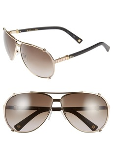 Dior 'Chicago 2 Strass' 63mm Aviator Sunglasses