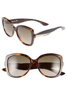 Dior 'Envol 2' 55mm Retro Sunglasses