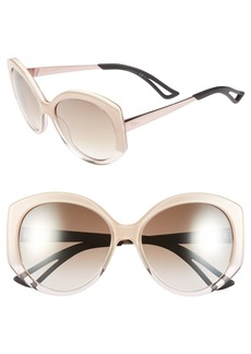 Dior 'Extase 1' 58mm Oversized Sunglasses