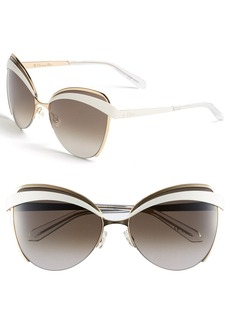 Dior 'Eyes 1' 60mm Metal Butterfly Sunglasses