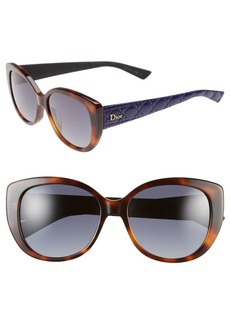 Dior 'Lady' 55mm Oversized Cat Eye Sunglasses