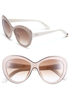 Dior 'Promesse 1' 55m Cat Eye Sunglasses