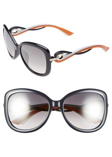 Dior 'Twisting' Oversized 58mm Sunglasses