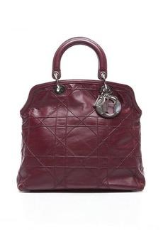 Pre-Owned Christian Dior Burgundy Leather Granville Bag