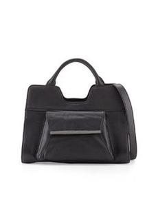 Christian Lacroix Bolaria Leather Satchel, Black