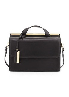 Christian Lacroix Melitea Flap Satchel, Black