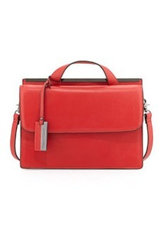 Christian Lacroix Melitea Flap Satchel, Red