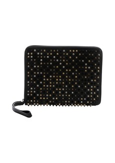 Christian Louboutin black leather 'Cris' spiked tablet case
