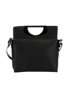 Christian Louboutin black leather 'Passage' convertible top handle bag