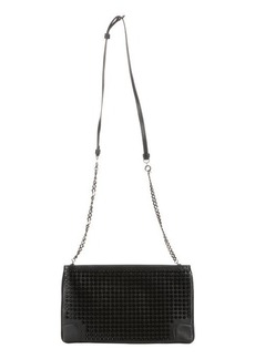 Christian Louboutin black leather studded 'Loubiposh' shoulder bag