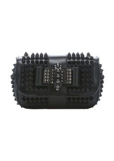 Christian Louboutin black leather 'Sweety Charity' spiked shoulder bag