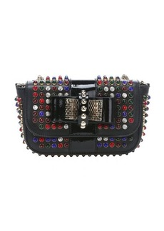 Christian Louboutin black leather 'Sweety Charity' studded shoulder bag