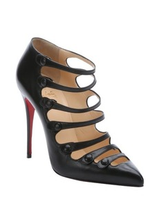 Christian Louboutin black leather 'Viennana' stiletto heels