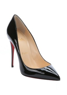 Christian Louboutin black patent leather 'Pigalle Follies 100' stiletto pumps