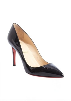 Christian Louboutin black patent leather pointed toe pumps