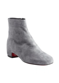 Christian Louboutin grey suede side zip ankle boots