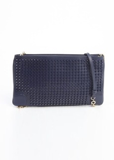 Christian Louboutin navy leather 'Loubiposh' studded detail shoulder bag