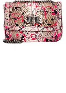 Christian Louboutin Paint Splatter Python Sweet Charity Shoulder Bag
