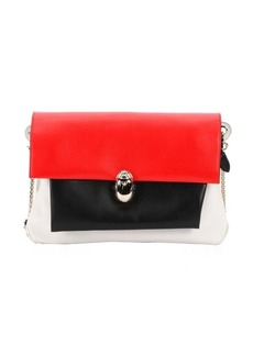 Christian Louboutin red, black and white leather 'Khepira' shoulder bag