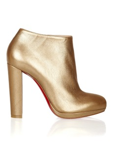 Christian Louboutin Rock & Gold 120 metallic leather ankle boots