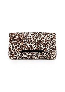 Christian Louboutin Rougissime Leopard-Print Calf Hair Clutch Bag