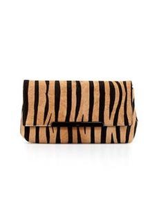 Christian Louboutin Rougissime Tiger-Print Calf Hair Clutch Bag