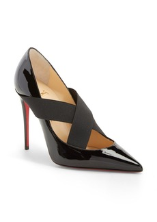 Christian Louboutin 'Sharpstagram' Cross Strap Pointy Toe Pump