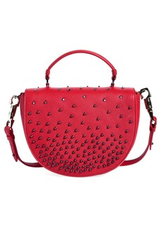 Christian Louboutin Studded Calfskin Messenger Bag
