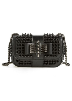 Christian Louboutin 'Sweety Charity' Spiked Calfskin Shoulder Bag