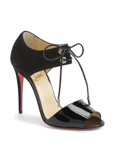 Christian Louboutin Tie-Up Leather Sandal