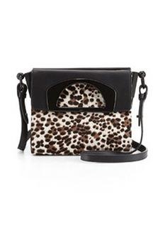 Mini Passage Calf Hair Crossbody Bag, Leopard   Mini Passage Calf Hair Crossbody Bag, Leopard