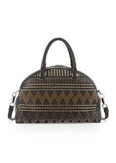 Panettone Large Spike Stud Satchel Bag, Black   Panettone Large Spike Stud Satchel Bag, Black