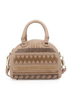 Panettone Small Chevron Satchel Bag, Beige Multi   Panettone Small Chevron Satchel Bag, Beige Multi