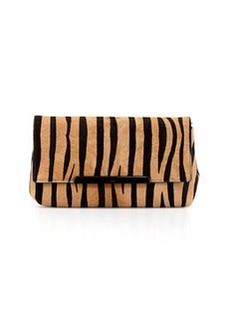 Rougissime Tiger-Print Calf Hair Clutch Bag   Rougissime Tiger-Print Calf Hair Clutch Bag