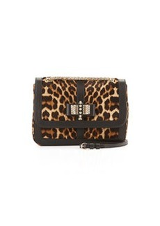 Sweet Charity Small Calf Hair Shoulder Bag, Leopard   Sweet Charity Small Calf Hair Shoulder Bag, Leopard