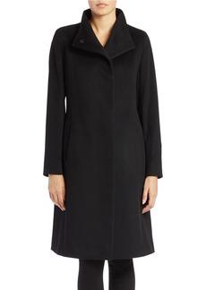 CINZIA ROCCA Asymmetrical Stand Collar Coat